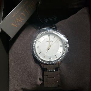 NWT Bulova Crystal Women's Watch